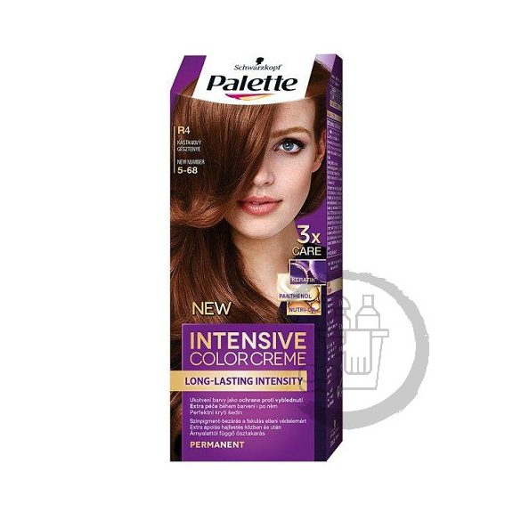Palette hajfesték Intensive Color Creme 2x50ml (Middle chestnut) 5-68 R4