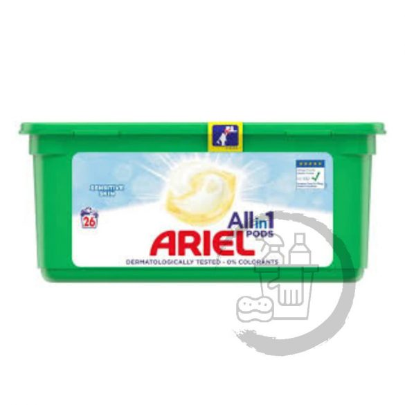 Ariel 3in1 kapszula 26 mosás Sensitive Skin