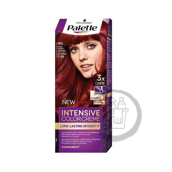 Palette hajfesték Intensive Color Creme 2x50ml (Flaming red) 7-89 RI6