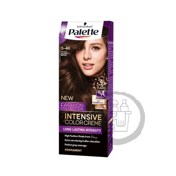 Palette hajfesték Intensive Color Creme 2x50ml (Warm glossy beige) 5-46