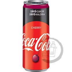 Cherry Coke Zero sleek can 0,33l